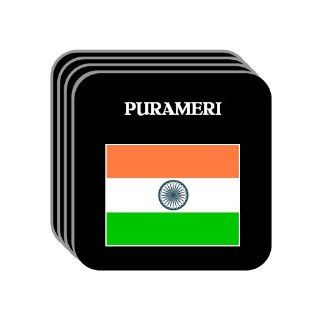India   PURAMERI Set of 4 Mini Mousepad Coasters