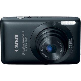 Canon PowerShot SD1400IS 14.1MP Black Digital Camera