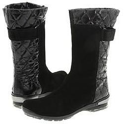 Aquatalia by Marvin K. Bare Black Suede w/Quilt Boots