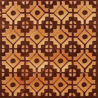 140 Faux Tin Ceiling Tile Glue up (24x24) Antique Copper