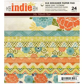 Indie Chic Citron 6x6 inch Paper Pad (24 Sheets)
