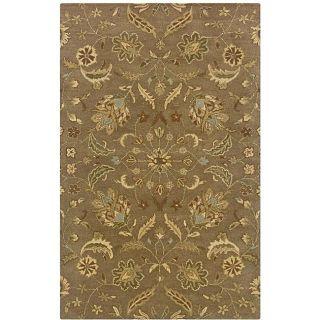 Hand tufted Green Oriental Wool Rug (8 x 10)