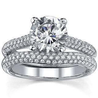 18k Gold 2 1/2ct TDW Diamond Wedding Ring Set (I, I1)