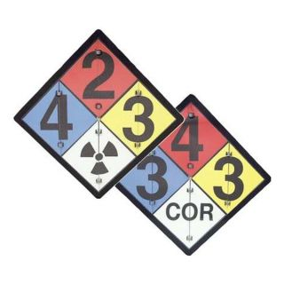 Accuform Signs ZPF125 NFPA Flip Placard Sign, 15 1/2x15 1/2 In.