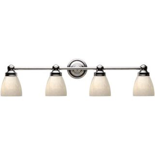 World Imports Troyes Collection Open White Art Glass 4 light Bath Bar