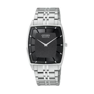 Citizen Eco Drive Mens Stiletto Stainless Steel Watch Today $261