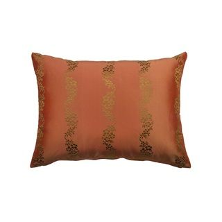 Rose Tree Crimson Garden Shimmer Decorative Pillow