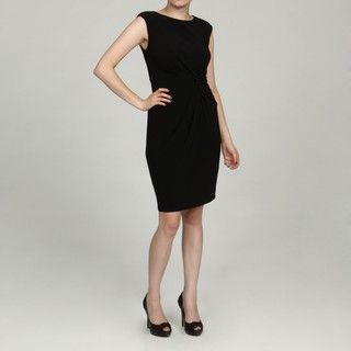 Jessica Howard Womens Petite Black Side Ruched Dress FINAL SALE