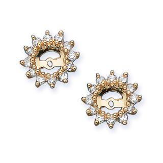 10k Yellow Gold 1/2ct TDW Diamond Earrings Jackets (J K, I2 I3