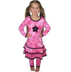 AnnLoren Girls Tie dye Tunic and Leggings Set