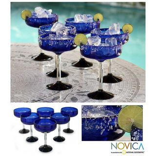 Acapulco Set of 6 Margarita Glasses (Mexico)