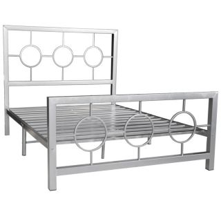 Circle Design Queen size Metal Bed Frame