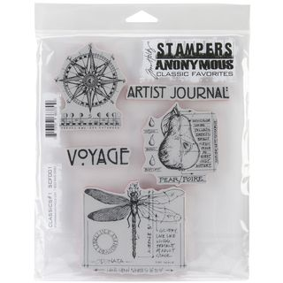 Tim Holtz Cling Rubber Stamp Set Classics #1