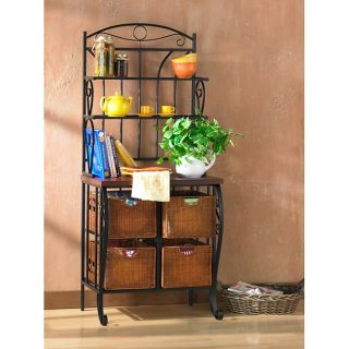 this item iron and wicker bakers rack today $ 169 99