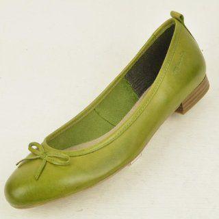 Ballerinas neue Kollektion 2013 Tamaris, echt Leder in bambusgrün