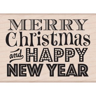 Hero Arts Mounted Rubber Stamps Merry Christmas and Happy New Year