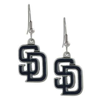 Silvertone San Diego Padres Dangle Earrings