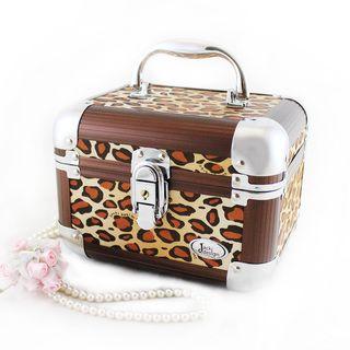 Jacki Design Brown Pin Up Cheetah Train Case Manicure/ Jewelry