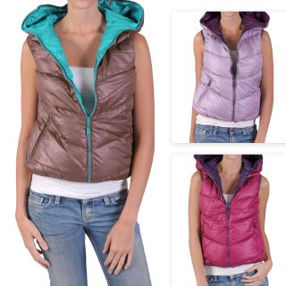 Hailey Jeans Co. Juniors Reversible Plush Sleeveless Jacket