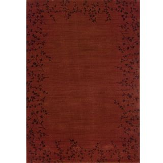 Ellington Red/Brown Transitional Area Rug (78 x 1010)