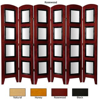 Wood and Plexi glass Phoo 6 panel Room Divider (China)