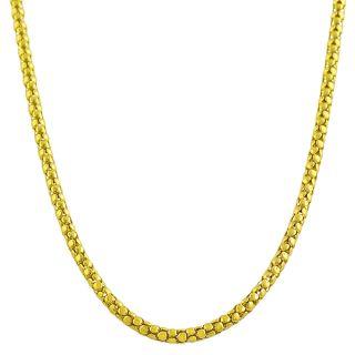 14k Yellow Gold 18 inch Popcorn Chain