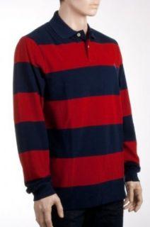 Ralph Lauren Poloshirt langarm rot/navy gestreift
