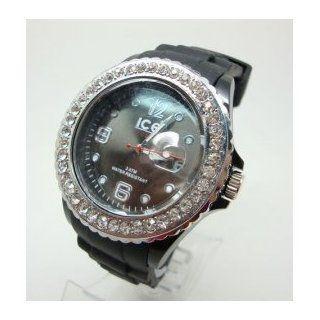 142 Classic DIAMOND BLACK Stylish Silicon Sport Jelly Strap Unisex Ice