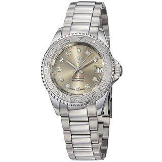 Kadloo Womens Match Race Grey Diamond Dial Stainless Steel Watch