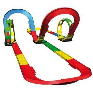 Simm 50105   Darda Speedway Spielset mit 2 Loopings, 2 Steilkurven und