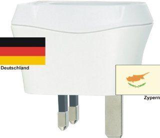 Design Reisestecker Adapter für Zypern auf Deutschland, Schukostecker