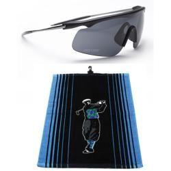 Tour Vision Plush Golf Towel and Sunglasses Combo Kit
