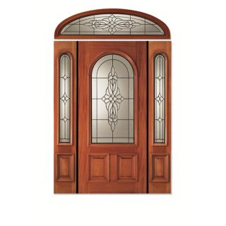 Conception White Mahogany Pre hung Door Unit with Arch Glass and Two