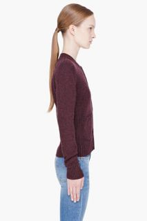 A.P.C. Plum Merino Wool Cardigan for women