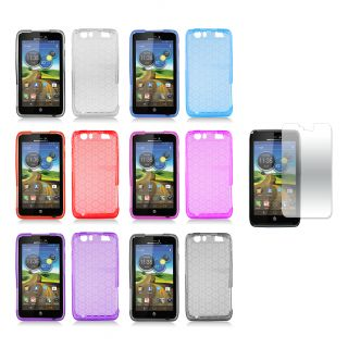 Debossed Hexagonal Pattern TPU Case with Screen Protector for the
