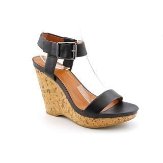 Calvin Klein Womens Nikole Leather Sandals (Size 9.5)
