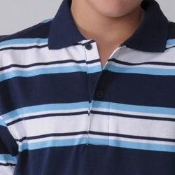 Gioberti by Boston Traveler Boys Long sleeve Stripe Polo Shirt
