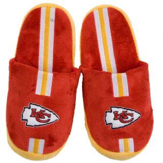 Kansas City Chiefs Striped Slide Slippers