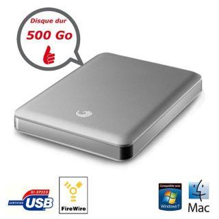 Seagate Goflex Pro Mac 2,5 Silver 500 Go   Achat / Vente DISQUE DUR