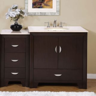 Silkroad Exclusive 53.5 inch Marble Top Single Vanity Today $998.99 4