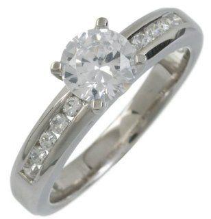 Damen Ring Silber Gr. 48 (15.3) 1 Zirkonia DPR5106H