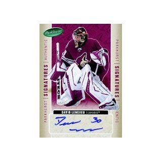 2005 06 Parkhurst Signatures #DL David Leneveu AUTO