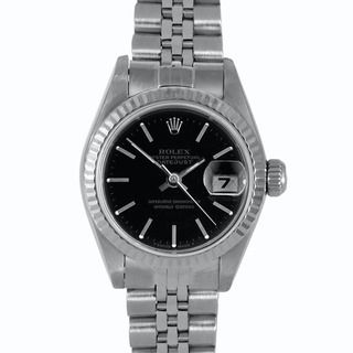 Pre owned Rolex Womens Stainless Steel Datejust Watch