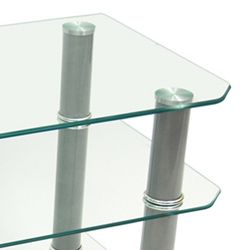 Contemporary 42 inch Glass TV Stand