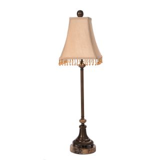 Resin Marble Copper Shantung Table Lamp Today $174.99