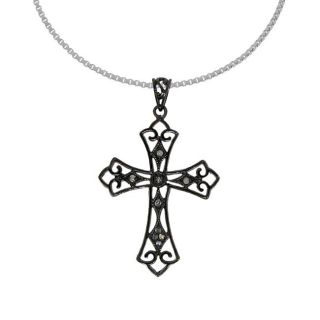 Sterling Silver Vintage style Cross Necklace