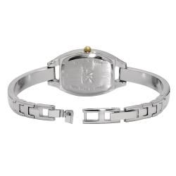 Anne Klein Two tone Metal Bangle Bracelet Watch