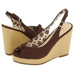 Madden Girl Caddette Brown Fabric Sandals