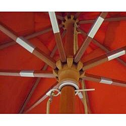 Lauren & Co Ultra Premium Spun Poly Tuscan Orange Market Umbrella