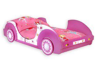 Traumhaftes Autobett BUTTERFLY Kinderbett BETT pink/rosa/weiss: